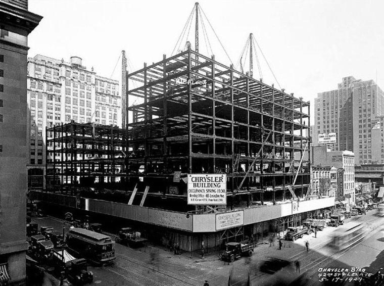 Chrysler Building Under Construction NYC 1929 Vintage Everyday