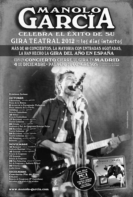 Concierto de Manolo García en Madrid. Diciembre 2012