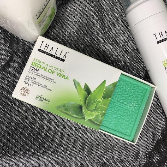 Thalia Aloe Vera Serisi Onarıcı ve Nemlendirici Doğal Sabun 1