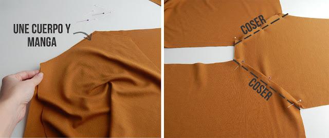 coser sudadera mangas ranglan