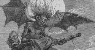 These German witches actually have nothing to do with Halloween; they flew to the mountains on Walpurgis night.
