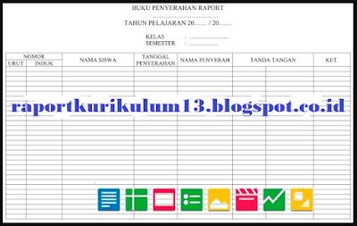 Buku Penyerahan dan Pengembalian Raport