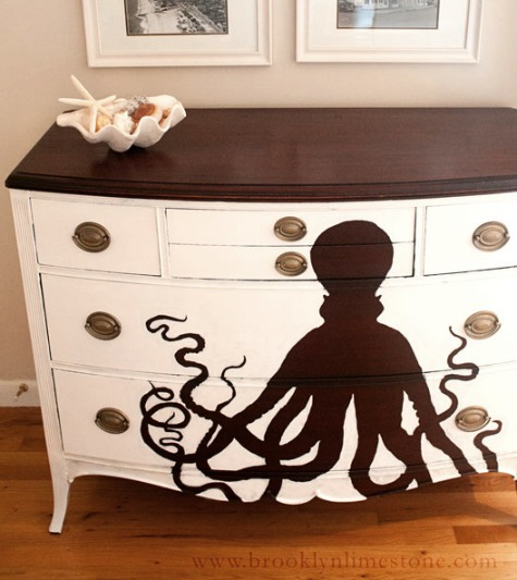 Octopus Painting on Dresser