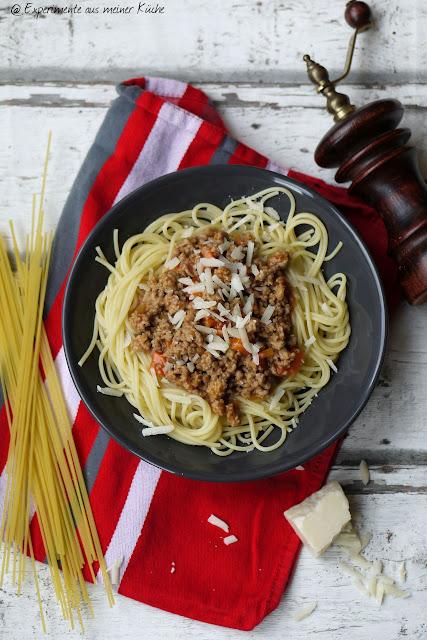 Experimente aus meiner Küche: Spaghetti Bolognese