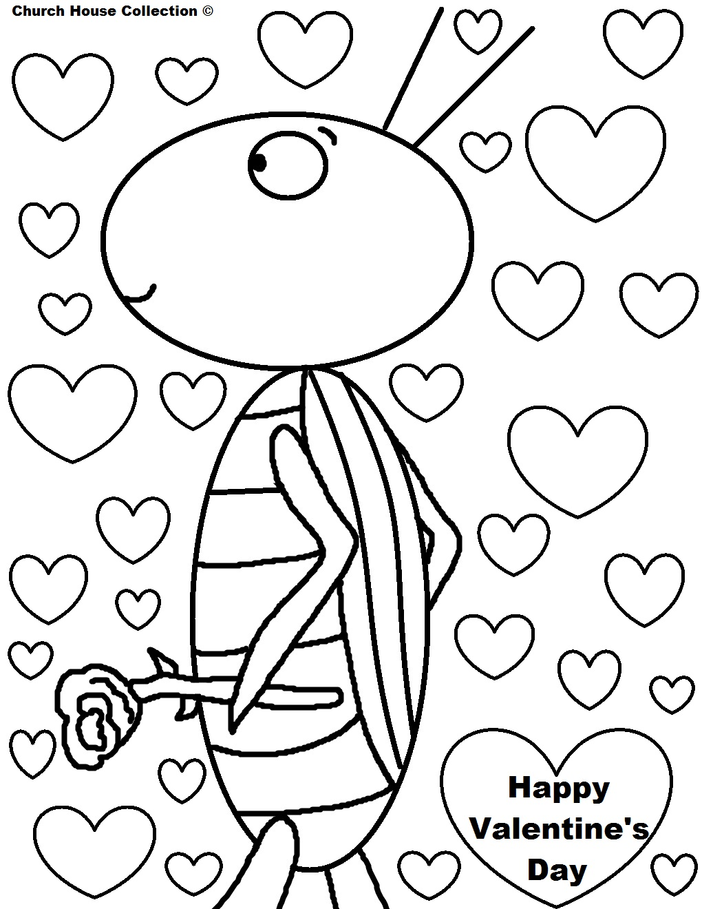 valentine days coloring pages-#44