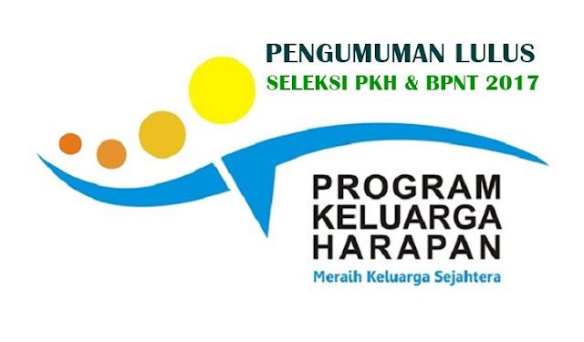 Kementerian Sosial Republik Indonesia telah mengumumkan kelulusan akhir hasil seleksi SDM Pelaksana Program Keluarga Harapan (PKH) dan Bantuan Pangan Non Tunai (BPNT) Tahun 2017.