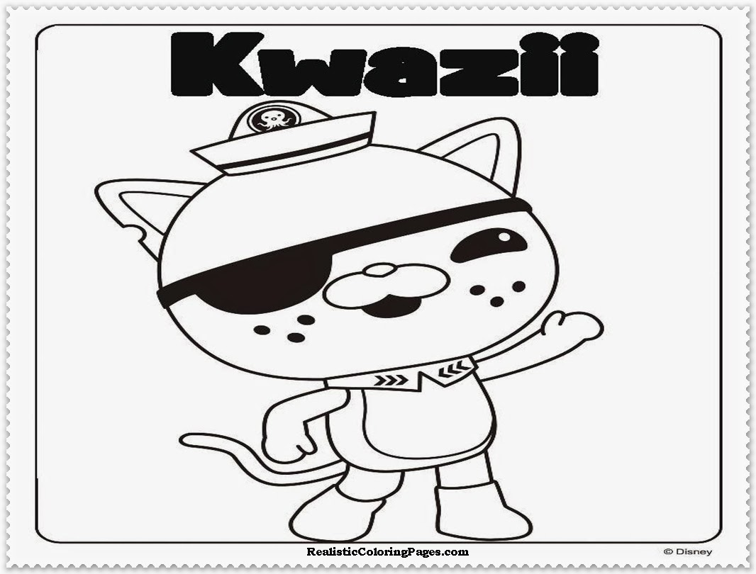 octonauts coloring pages disney