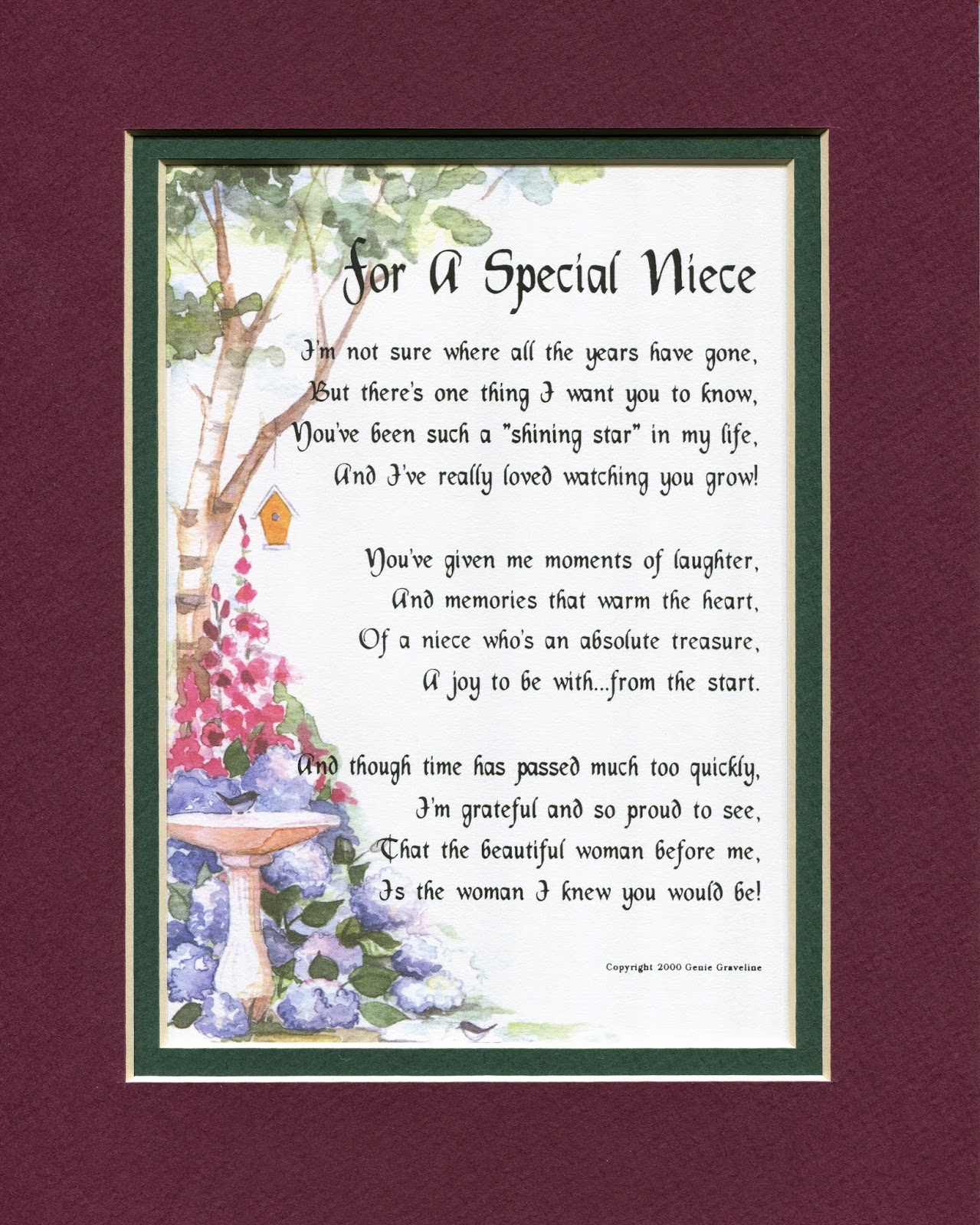 Genie's Poems: For A Special Niece
