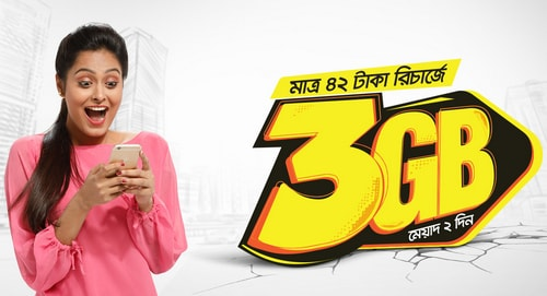 Banglalink New Internet Offer Available 3GB @ Tk42