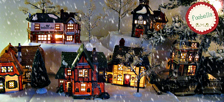 Dickens Christmas Village via foobella.blogspot.com