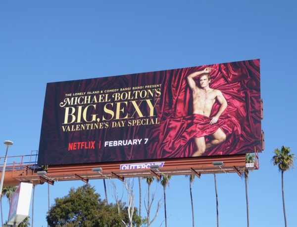 Michael Boltons Big Sexy Valentines Day Special billboard