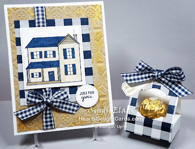 Heart's Delight Cards, Buffalo Check, Farmhouse Christmas, Treat Holder, Stampin' Up!
