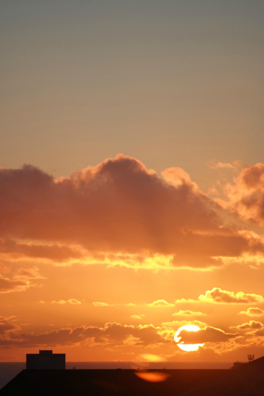 Golden sunrise over Aberdeen