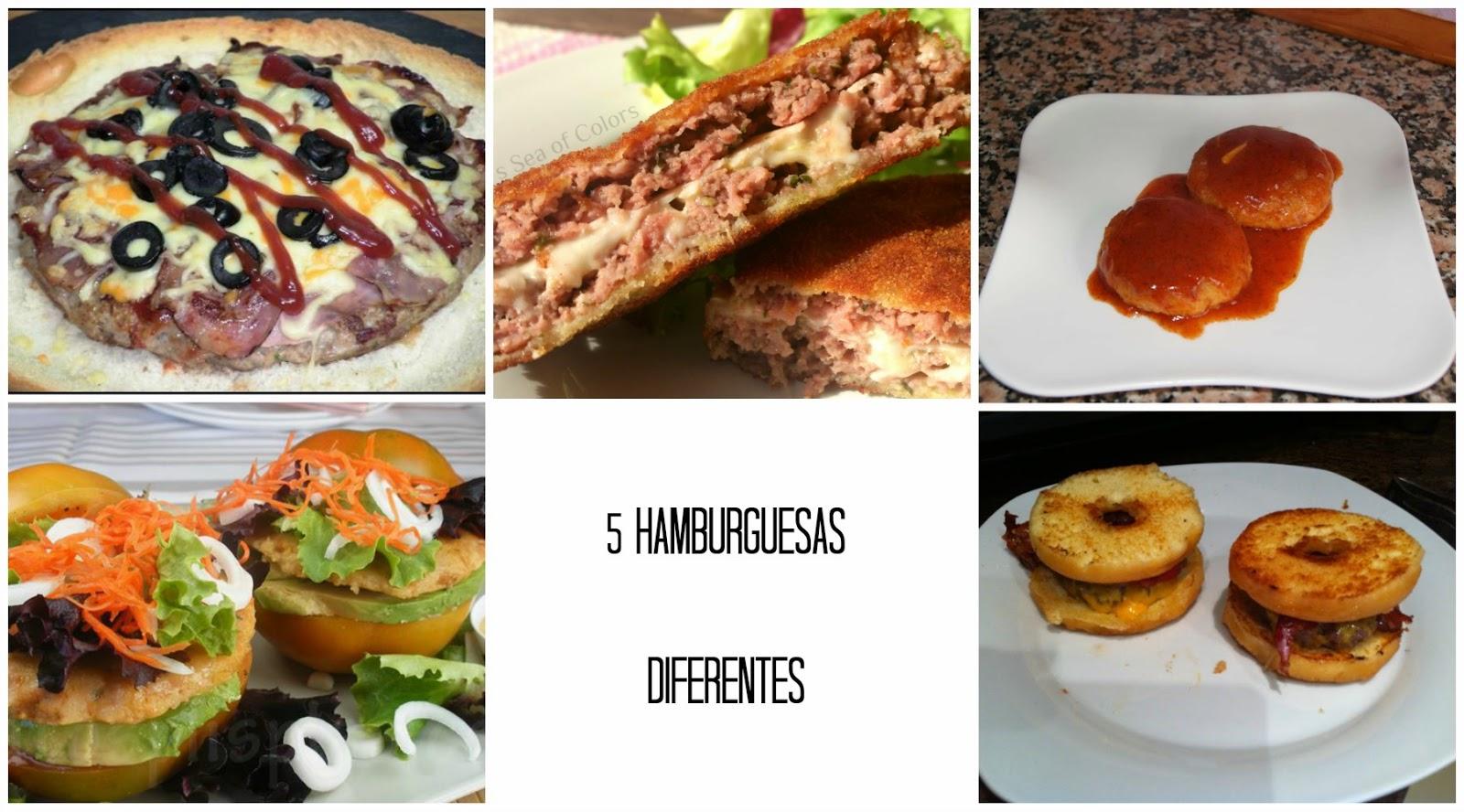 5 hamburguesas diferentes