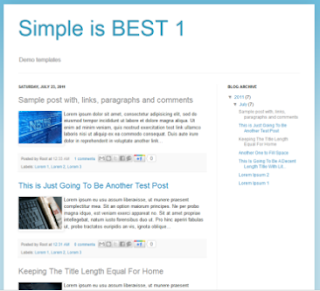 default blogger template