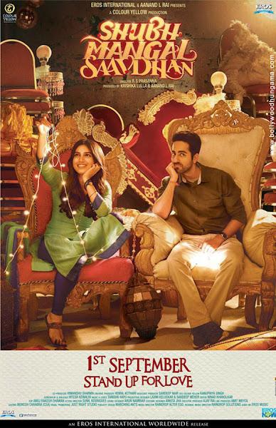 Poster of Shubh Mangal Saavdhan 2017 Full Movie Hindi 720p HDRip ESubs Download