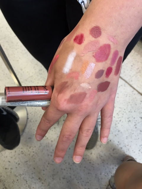 Make-up swatches