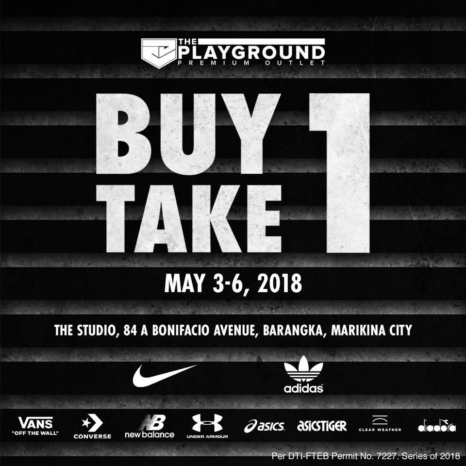 64b8e5d1e5074 Nike, Adidas, Vans, New Balance, Converse, Asics (& more) Buy1 Take1 Promo  at The Studio: May 3-6 2018