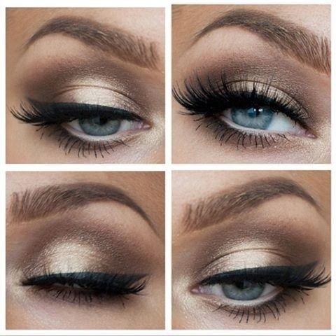 Six Bride Wedding Day Eye Makeup Ideas