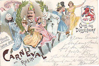 Carnevalsgrüße aus Düsseldorf - alte Postkarte
