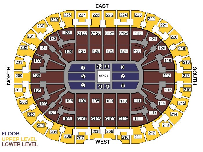 Quicken Loans Arena Seating Chart Row & Seat Numbers TickPick