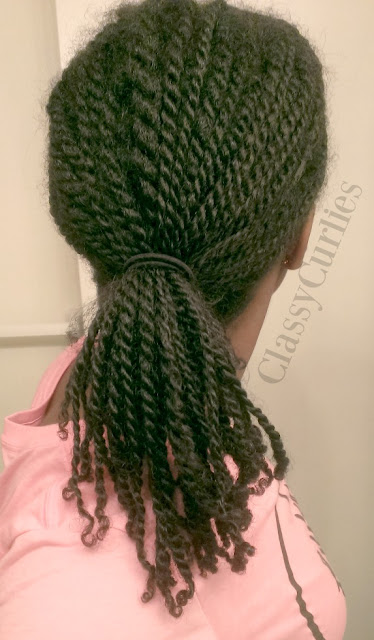 Mini twists on natural hair week two - ClassyCurlies