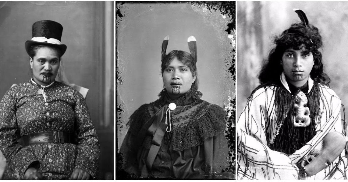 Moko Kauae: 30 Incredible Portraits of Maori Women With Their Tradition Chin Tattoos From the Early 20th Century
