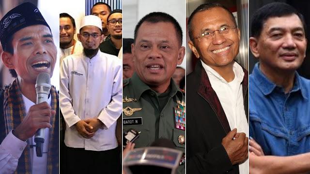 Dukungan UAS, UAH, Gatot, Dahlan Iskan dan Sjafrie ke Prabowo