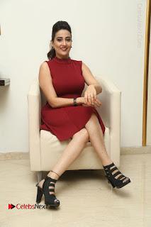 Telugu Tollywood Anchor Manjusha Pos in Red Short Dress  0109.JPG