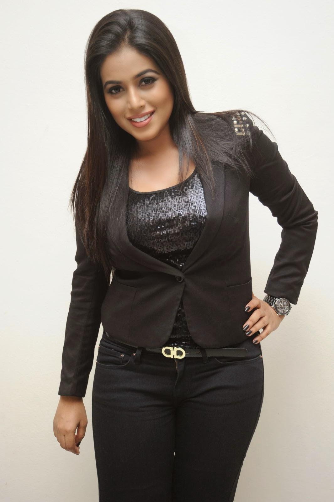 Poorna Latest Hot Hd Black Dress Pictures  Shamna Kasim -3648