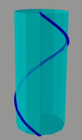 Geodésica, cilindro, línea geodésica