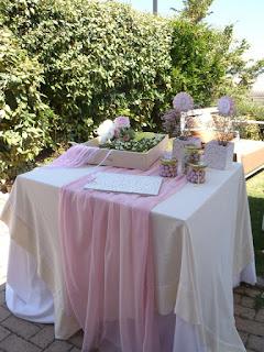 διακόσμηση ρομαντικού στυλ για κοριτσίστικη βάπτιση