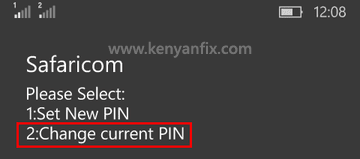 change current pin