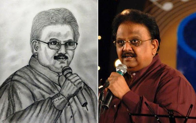 PENCIL DRAWING - S. P. Balasubrahmanyam