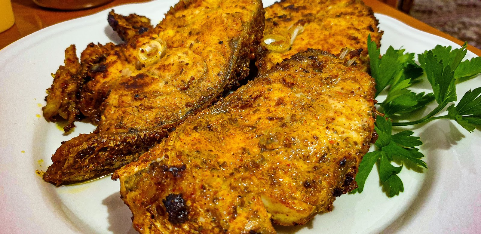 pan fried spicy fish