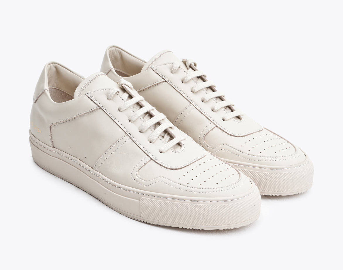 a38a65a6bb25 Casually Finer  Common Projects B-ball Low Beige Sneakers