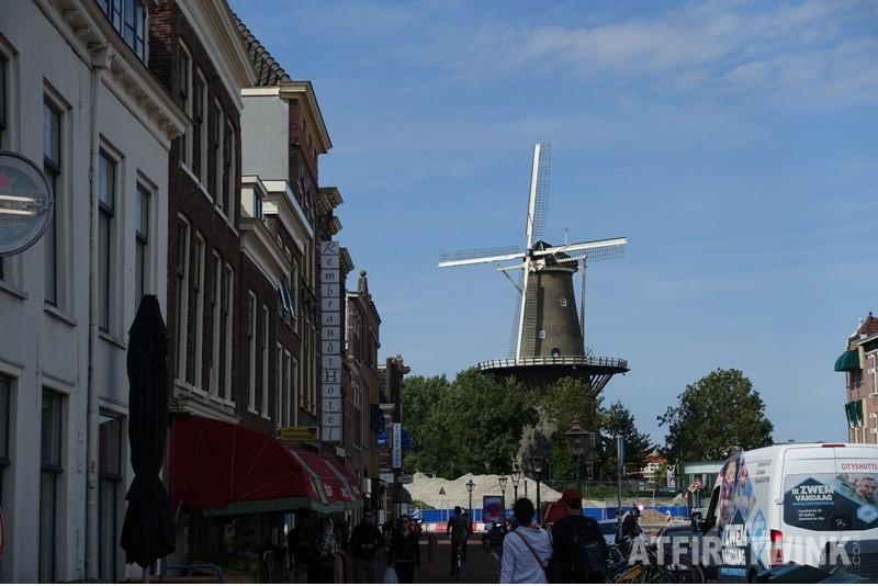 Molen de Valk dutch windmill Leiden Netherlands