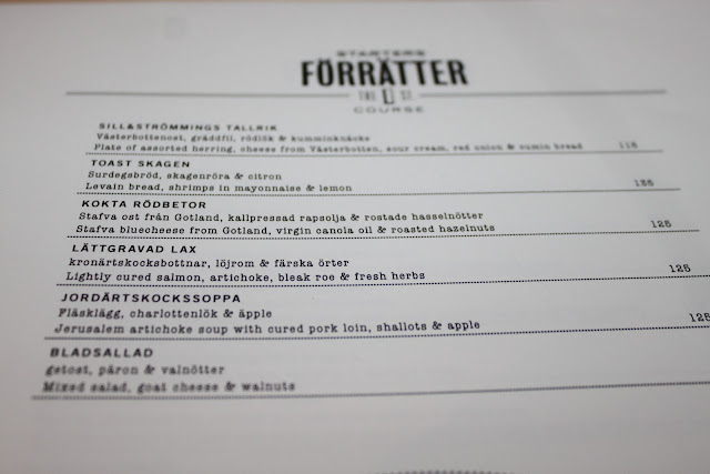 menu Teaterbrasseriet, stockholm