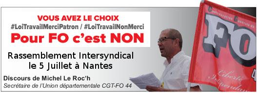 #LoiTravail : Rassemblement du 5 juillet à Nantes