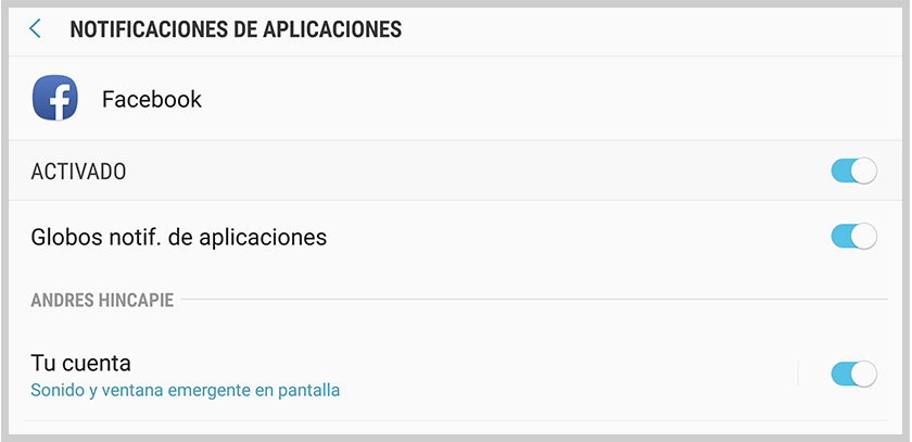 como deshabilitar las notificaciones de aplicaciones