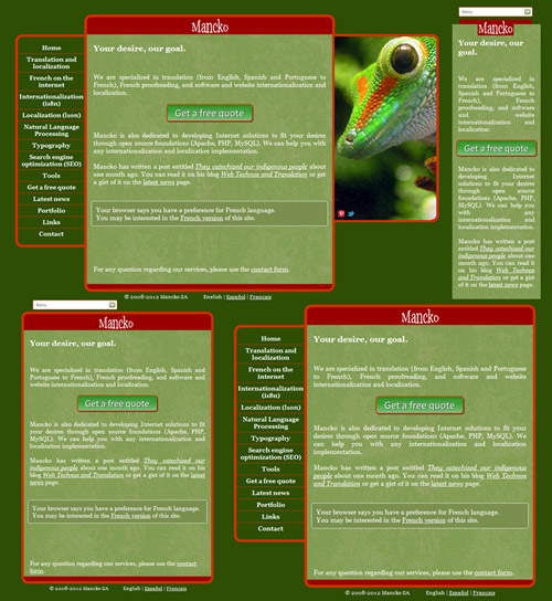 Exemple de responsive web design