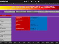 Download Aplikasi Olah Nilai Semester Siswa Lengkap Format Excel