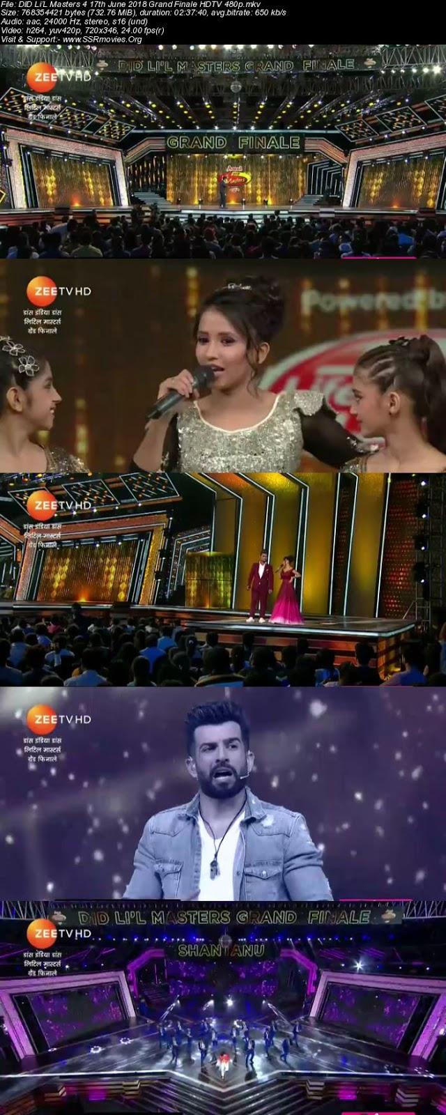 DID Li'L Masters 4 17th June 2018 Grand Finale HDTV 480p