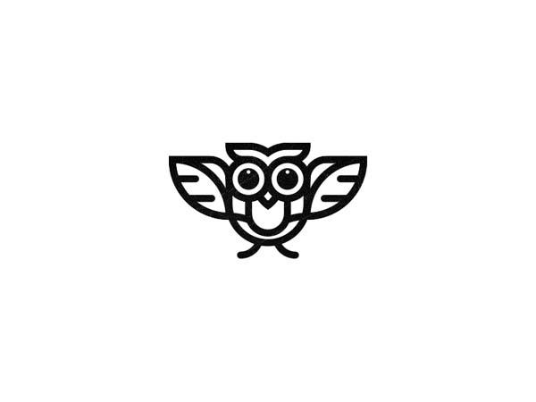 Inspirasi Desain Logo Monoline 2017 - Owly Monoline Logo