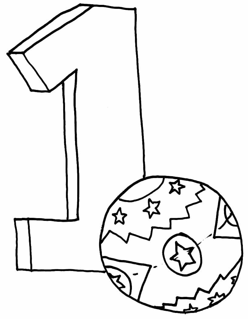 Los numeros - Dibujos para colorear - Ciclo Escolar