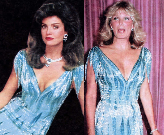 Primetime Soaps: Colbys & Dynasty Gals Caught Wearing Same Gown