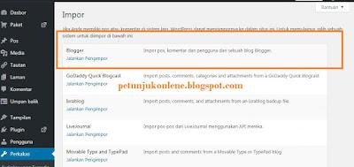 Impor Wordpress Blog
