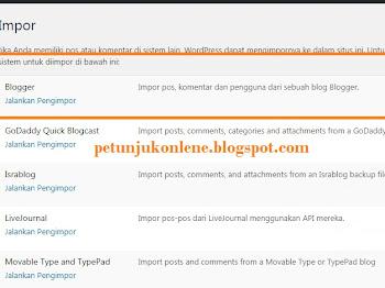 Cara Memindahkan Blog dari Blogger ke Wordpress Gratis atau Hostingan