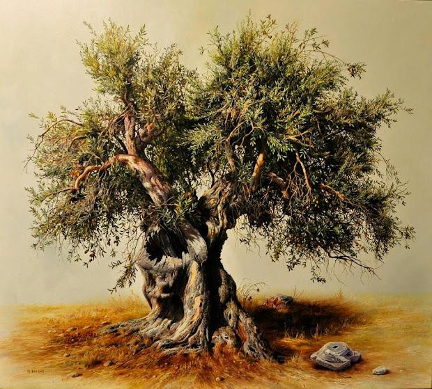 Realistic Tree Art Paintings