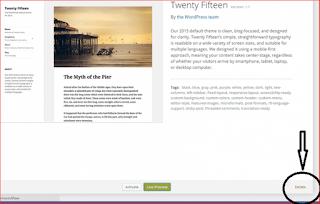 Cum sa sterg o tema nefolosita din Wordpress
